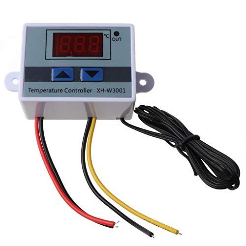 SweetWU - Regulador de temperatura LED digital para reptiles y peces, termómetro para tanque de peces