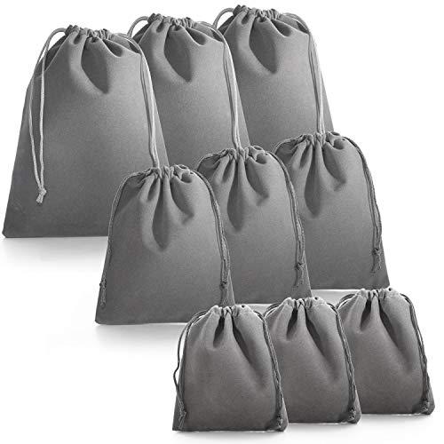 巾着袋 きんちゃく ラッピング 袋 ギフト 巾着『9枚セット』 pieces (グレー)