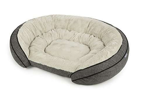 Sterling Premium Cooling Gel Memory Foam Pet Bed, Plush with Woven Linen,...
