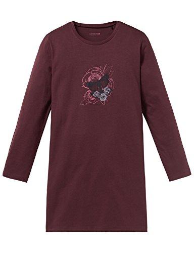 Schiesser Mädchen Rebel Sleepshirt 1/1 Nachthemd, Rot (Bordeaux 502), 140 (Herstellergröße: XS)