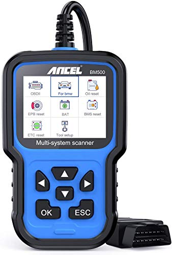 ANCEL All Systems Obd2 Scanner for BMW/Mini/RR, Check Engine/ABS/Airbag/TCM/Windows/Brake/4WD/HVAC Diagnostics with Battery Registration CBS EPB ETC BMS Oil Reset/PCM Clear Adaptations