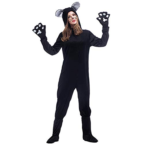 HFZY Nieuwe Zwarte Kat Liefhebbers Zwarte Kat Onesies Ouder-kind Kostuum Dier Speel Jurk Paar Draag Jongen/meisje Kleding