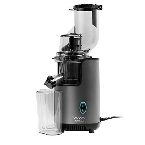 Cecotec Juice&Live 2500 EasyClean Licuadora de Prensa fría con 200 W de Potencia, Filtro EasyClean de fácil Limpieza y Canal XL de Doble Entrada para Frutas y Verduras Enteras.