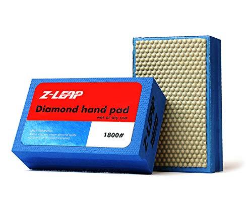 Z-LEAP Diamond Hand Polishing Pads Grit 1800 for Granite Marble Concrete Glass Sanding Block