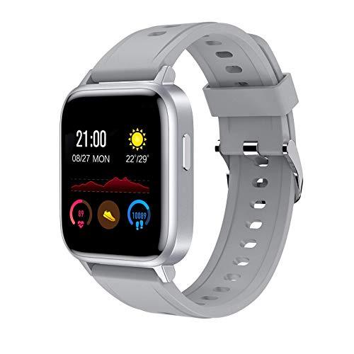 TIANYOU Pulsera Inteligente, Deportes de Sueño Ip68 Ip68 a Prueba de Agua Bluetooth Bluetooth Watch Inforión de Llamada Inteligente Recordatorio Sedentario Exquisito/Gris