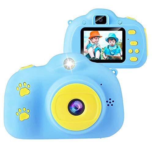 Kinder Kamera,Mini wiederaufladbare Kinder Digitalkamera Stoßfeste Video Camcorder Geschenke für 3-8 Jahre Jungen Mädchen,8MP HD Video 2 Zoll Bildschirm für Kinder (32 GB Karte enthalten) (Blau)