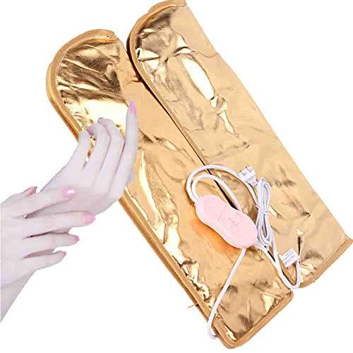 Nail Infrarouge Longue Gants De Chaleur Électrique Salon De Beauté Traitement De Cire Vibrations Soins Des Pieds Couvre Pied Mitaines thérapeutiques à la paraffine 220v,Gloves