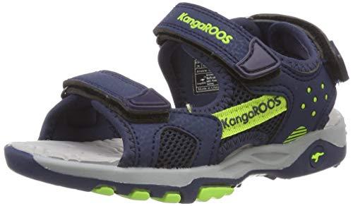 KangaROOS Unisex-Kinder K-Celtic Sneaker, Blau (Dk Navy/Lime 4054), 29 EU