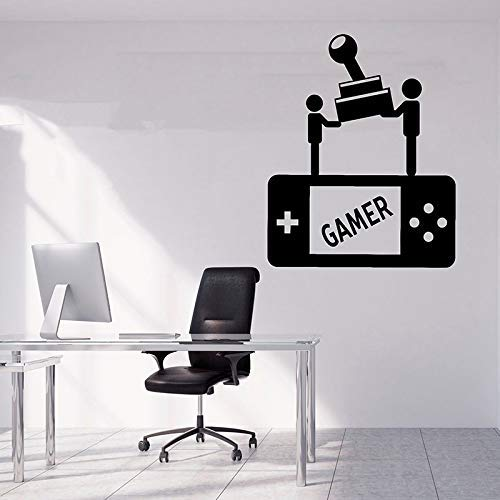 Gamer Wall Decal Gamer Decals Controller Decals Personalizado Gamer Room Birthday Gift Wall Sticker A 46X57Cm