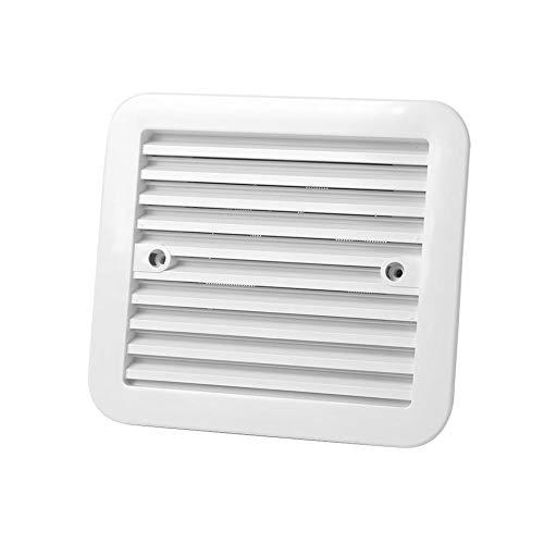 Reunion Accesorios for el Coche 12V Refrigerador de Salida con Ventilador en Forma for el acoplado de RV Caravana de Aire Laterales de ventilación Blanca Aire Acondicionado Instalación