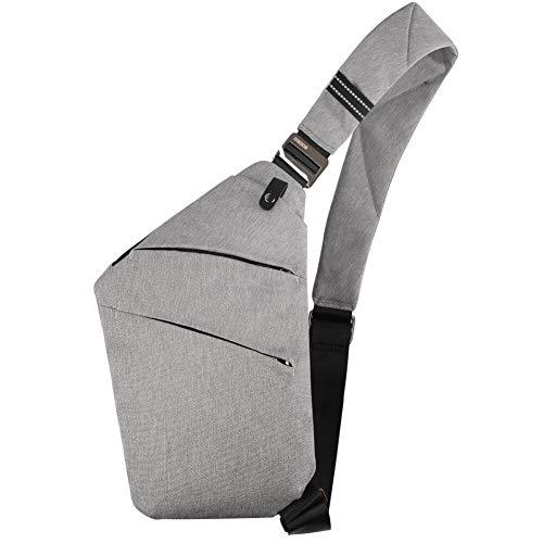 OSOCE Sling Chest Bag Cross Body Shoulder Backpack Anti Theft Travel Bags Daypack for Men Women(Grey)