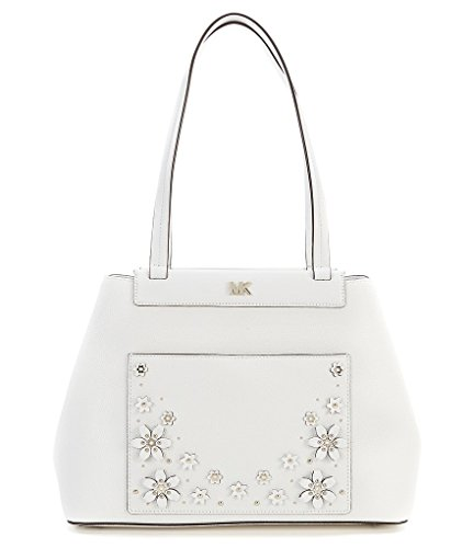 """APPROXIMATE SIZE:16""""(L) X 10 1/2"""" (H) X 5"""" (D) MEDIUM TO LG ACCENTED FLORAL WHITE FLOWERS AND GOLD STUDS"""