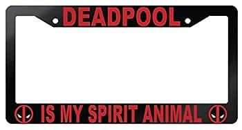 Deadpool Is My Spirit Animal Glossy Black Plastic License Plate Frame Deadpool