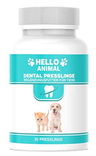 NEU: HelloAnimal® DENTAL Presslinge für Hunde und Katzen – Zahnsteinentferner auch für Zwischenräume - Zahnreinigung und Zahnpflege –für Mundgeruch