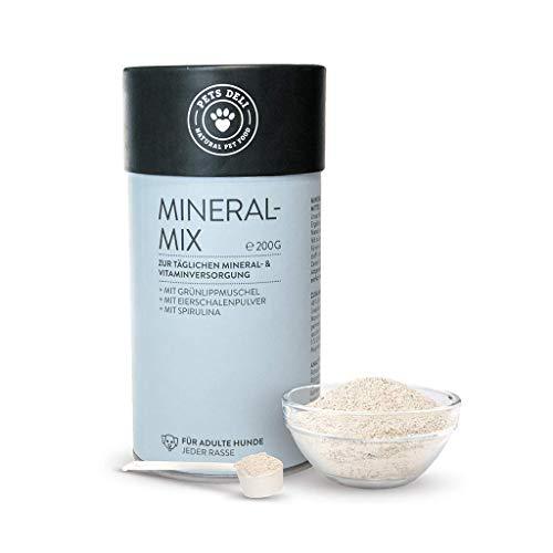 Mineral-Mix für Hunde | Natürliche Nahrungsergänzung für Futter | 200g inkl. Dosierlöffel