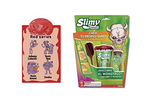 Slimy Creations Monstruoso Slime Coleccionable, color rojo/púrpura/dorado/verde (Fábrica De Juguetes 41311) , color/modelo surtido