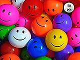 EEVOVEE 50pcs Plastic Smiley Kids Pool Ball for Kids 8cm - 50pcs Premium