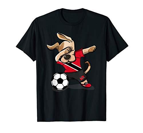 Dabbing Dog Trinidad and Tobago Soccer Jersey Football Lover T-Shirt