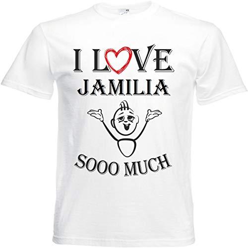 Camiseta I Love Jamia para mujer, hombre y niños en color blanco. Blanco S