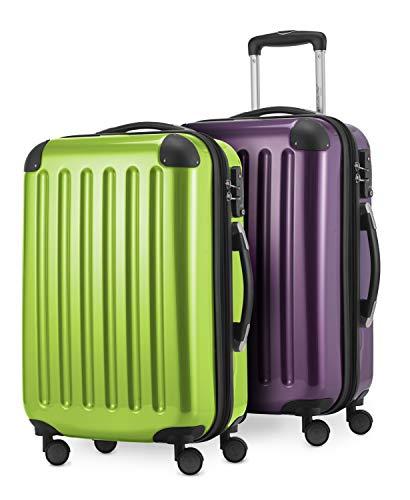 HAUPTSTADTKOFFER - Alex - 2er Handgepäck Kofferset Hartschale glänzend, Kabinengepäck 55 cm, 42 Liter, TSA-Schloss, 4 Doppelrollen