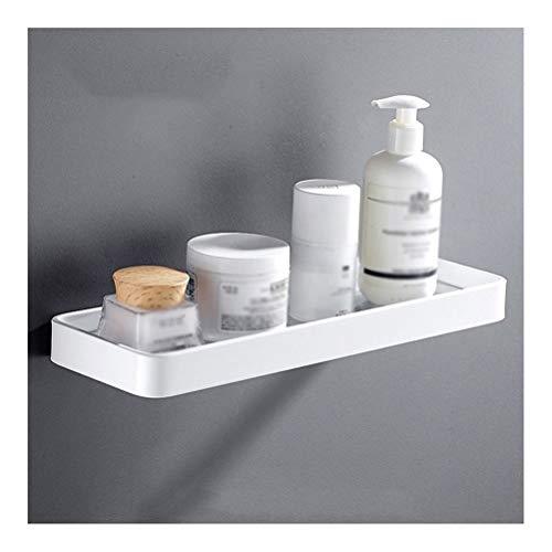 ZWJ hoekplank badkamer gehard glas planken voor racks aan de muur bevestigd kamer-aluminium wit drilling 25~45cm 02.28