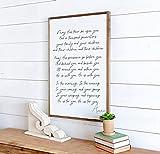 Tamengi The Blessing Song Kari Jobe | May His Favor Be Upon You | Scripture Wall Decor | Christian Wall Art | Scripture Signs | Living Room Sign |