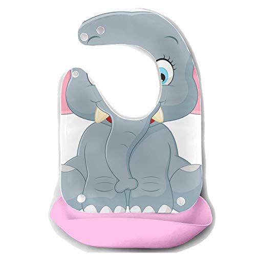 Reopx Bavoirs Large Heavy Big Giant Elephant Tablier de séparation en silicone amovible Serviette de souris pour bébé Nourrir Dribble Bavoir Bavoir Infant pour bébé Bavoirs Étanche