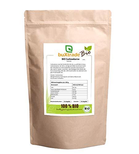 BIO Cashewkerne   Nüsse   Cashew   Bio Qualität   unbehandelt   ungesalzen   ohne Zusätze   5 kg