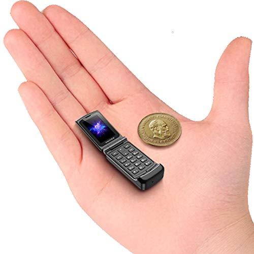 XBOSS F1 Flip Mobile Phone Smallest Phone in The World Design Unlocked (Black)