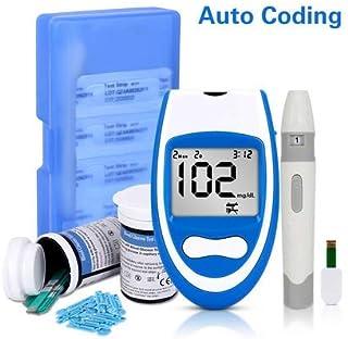 Glucómetro mgdL Seguro Inteligente con Tiras reactivas en Botella y lancetas Medidor de glucosa médico para una Prueba exacta de azúcar en Sangre para Diabetes