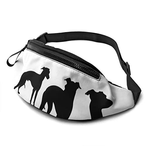 LKTBJEMFY Bolsa de cintura para perro italiano con agujero para auriculares, riñonera para hombres y mujeres con correa ajustable para exteriores, ver imagen, 15 x 15 x 28 inches,