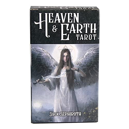 LPOK The Green Witch Tarot Occlut Tarot Viceversa Tarot Kit Deck Card Giochi da Tavolo Party Playing Oracle Cards-Heaven Earth,yuy