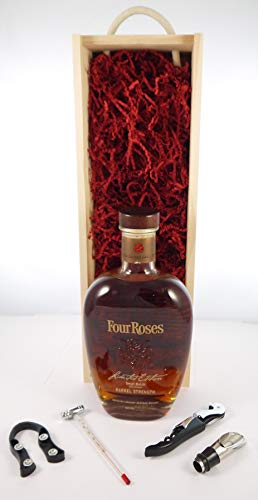 Four Roses Limited Edition Small Batch Barrel Strength Kentucky Straight Bourbon Whiskey 2015 in einer Geschenkbox, da zu 4 Wein Accessoires, 1 x 700ml
