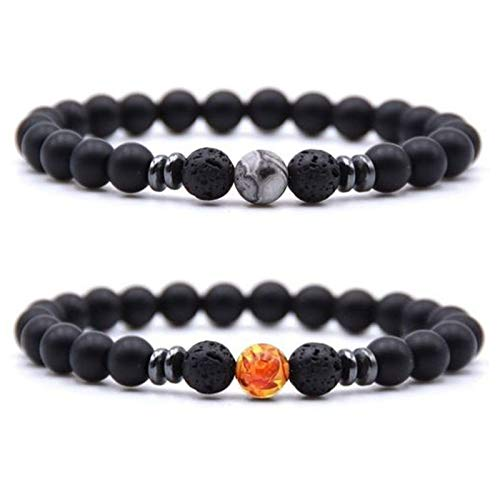 Anti Swelling Black Obsidian Anklet,Adjustable Weight Loss Magnet Anklet, Handmade Beaded Magnet Couple Bracelet Jewelry, Foot Pain Relief for Men and Women (2pcs-3)