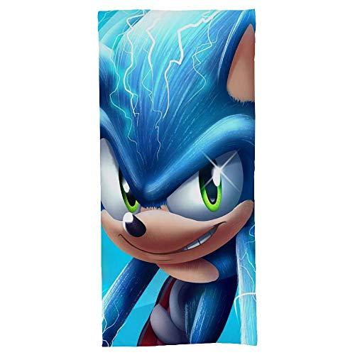 hoist Movie Sonic The Hedgehog - Toallas de baño absorbentes suaves para baño, secado rápido, toalla de playa de gran tamaño para mujeres y hombres