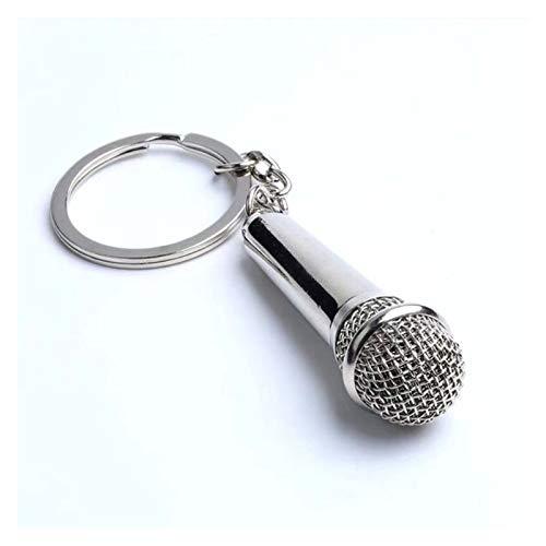 jsobh Colgante Llavero Micrófono Cantante Rapero Música Lover Rock Best Friends Bag Charm Colgante Llavero Regalos Musicales Dibujos Animados