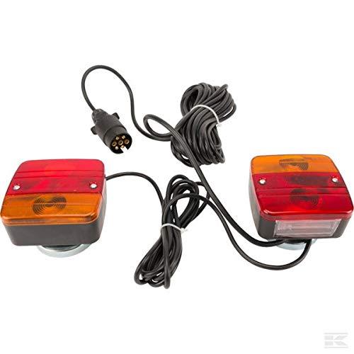 Gopart Set de Luces magnéticas para Remolque 7,5m Cable 12v HOMOLOGADO