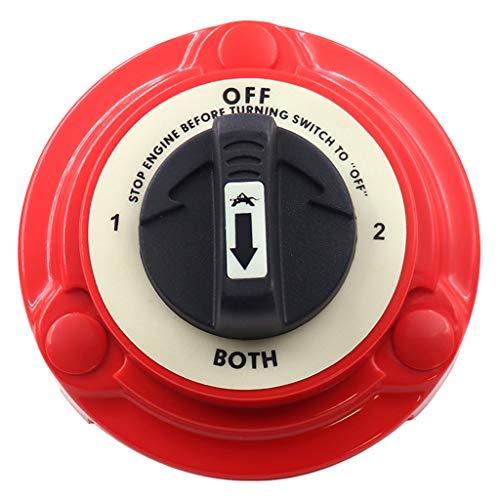 KESOTO Universal 4-Positionen Batterie Wahlschalter Trennschalter Hauptschalter für Boot Wohnmobil