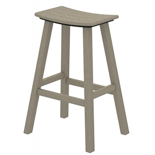 30 Recycled Earth Friendly Curved Outdoor Bar Stool Sand