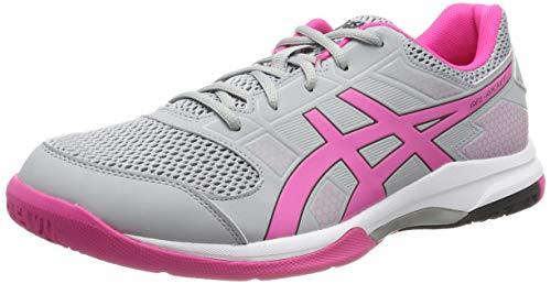 Asics Gel-Rocket 8, Zapatos de Voleibol para Mujer, Gris (Mid...