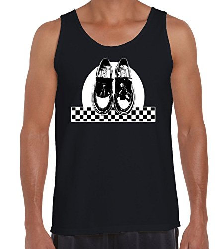 Men's Ska Dancing Shoes Vest, Black