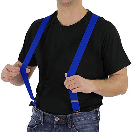 Foxxeo Blaue Hosenträger für Damen und Herren für Karneval und Fasching Party in dunkelblau
