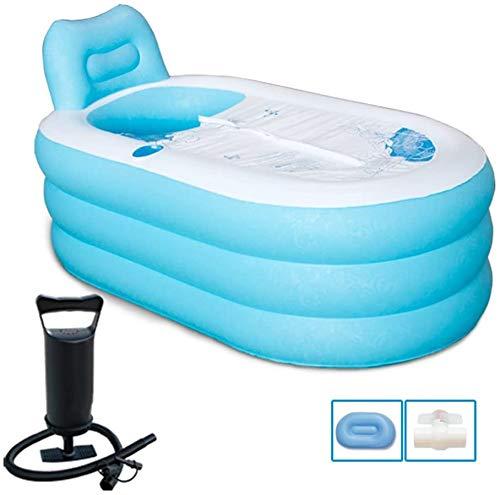 QIYUE Faltbare Schlauchboot Badewanne Durable Erwachsener SPA Badewanne Bad Equip freistehende aufblasbare Pool Badezimmer Home Spa