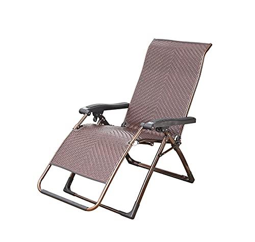 Rattan vikstol, bra ventilation, cool för att förhindra svettning, en bra partner för varmt väder, mycket lämplig för sommar utomhus terrass strand gård (Color : Brown)