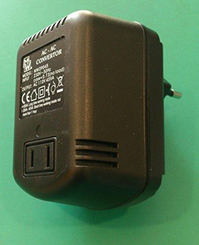 LC00212 ALIMENTATORE DA VIAGGIO CONVERTITORE DI TENSIONE AC/AC 220v/110V 45W TRASFORMATORE DELLA TENSIONE DI RETE