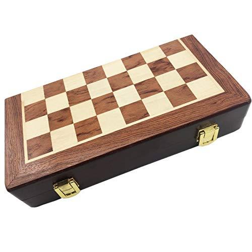 Juego de ajedrez de Madera Tablero de Lujo para Niños y Adulto Profesional Piezas Grande Plegable y portátil para Viajar