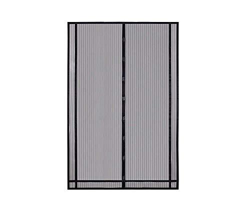 Sekey 230x160cm Magnetvorhang zum Insektenschutz, idealer magnetischer Fliegengitter für Balkontür, Kellertür, Terrassentür (zuschneidbar in Höhe und Breite) durch kinderleichte Klebemontage, Schwarz