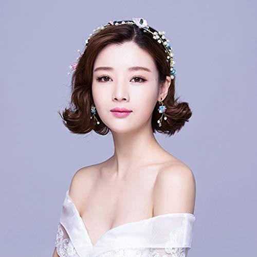 SINCERE@ Farbige Keramik Rosetten Haar-Accessoires Strand Kopf Blume Schmuck im Freien Hochzeitskleid Braut koreanischen Kopfschmuck handgemachte Stirnbänder