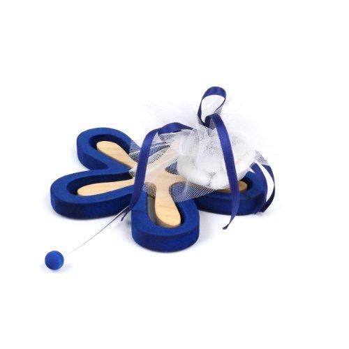 Legnomagia - made in Italy: FIOR sottomoka / sottopentola (blu) / idea bomboniera