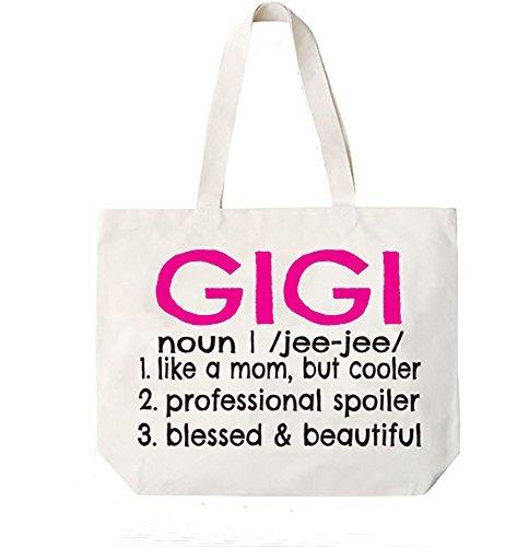 Gigi Definition Canvas Tote Bag Grandma Gift Idea Book Bag